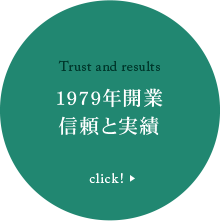 Trust and results 1979年開業 信頼と実績